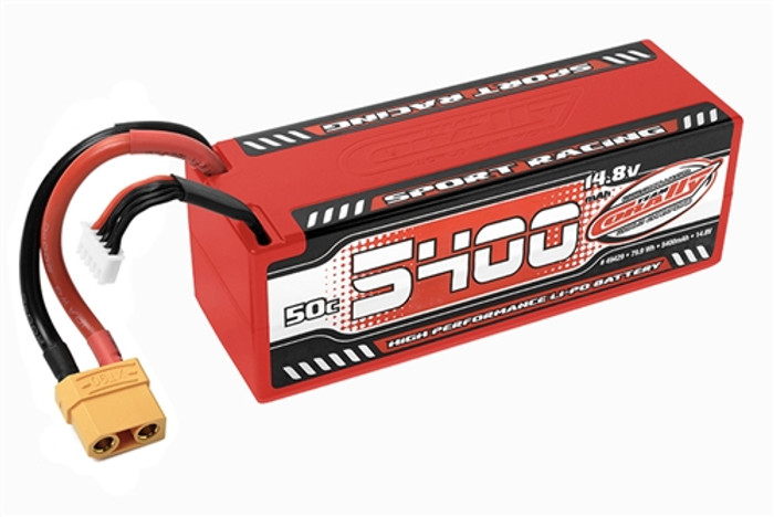 Team Corally 5400mAh 14.8V 4S 50C Hardcase LiPo Battery with XT90 Connector, C-49429