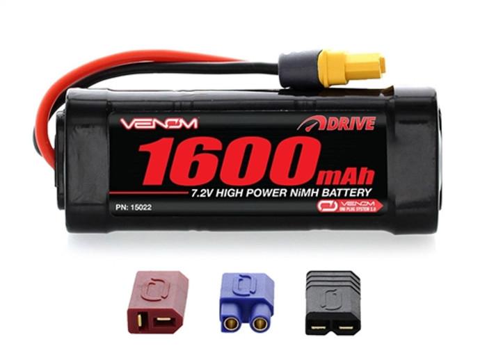VENOM 7.2V 1600mah 2/3A NiMH Battery w/UNI Plug 2, 15022