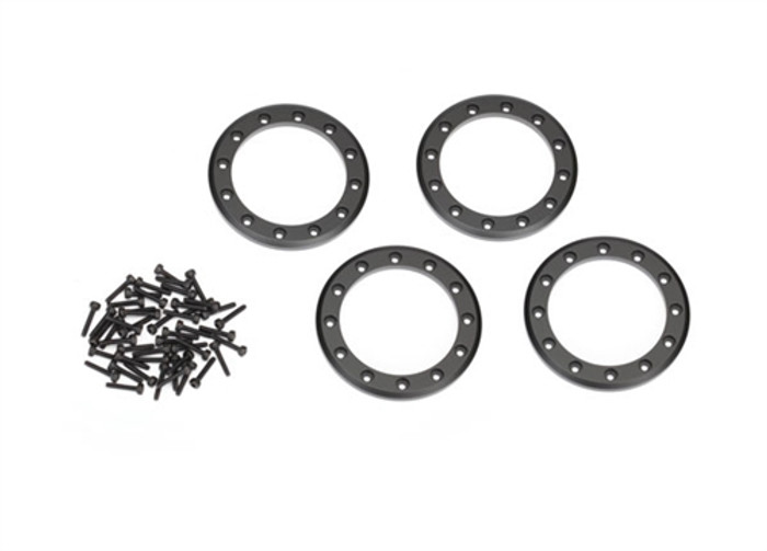 "Traxxas Black Beadlock Rings 2.2"" for TRX-4, 8168T"