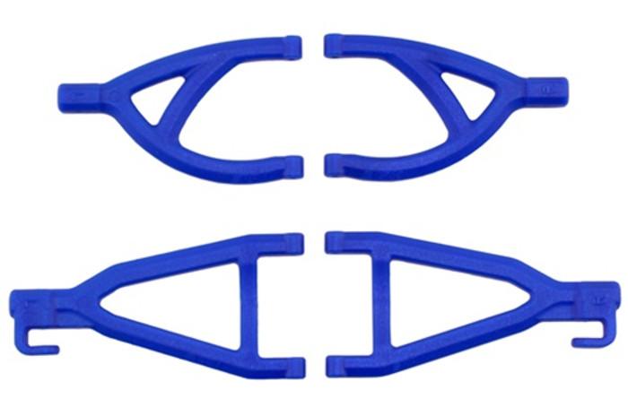 RPM Rear Upper & Lower A-Arms for Traxxas 1/16th E-Revo - Blue, 80605