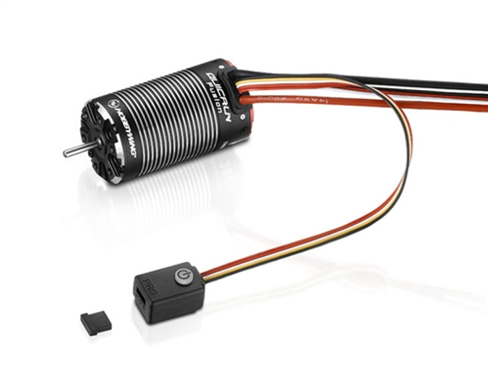 Hobbywing QuicRun Fusion FOC 2in1 System - 1800Kv Brushless Motor w/Built-in ESC, 30120401