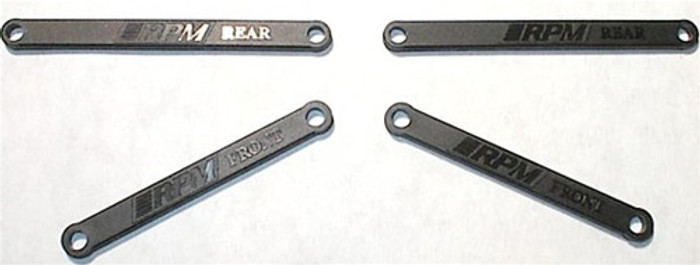 RPM Heavy-Duty Camber Links for Traxxas Electric Rustler and Stampede - Black, 81262