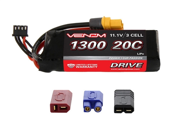 VENOM 20C 1300mAh 11.1V 3-Cell LiPO Battery w/UNI Plug 2, 15024