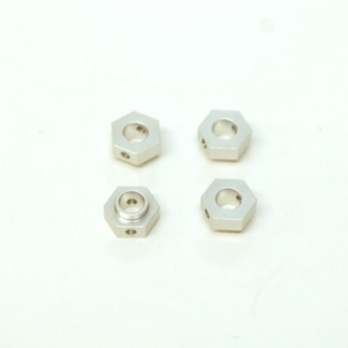 ST RACING Aluminum Hex Adapters for TRX-4 (Silver), 8269S
