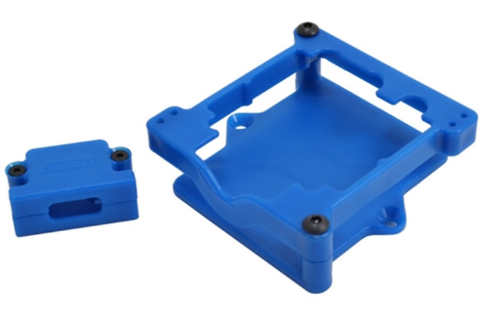 RPM Blue ESC Cage for Castle Sidewinder 3 and SCT, 73275