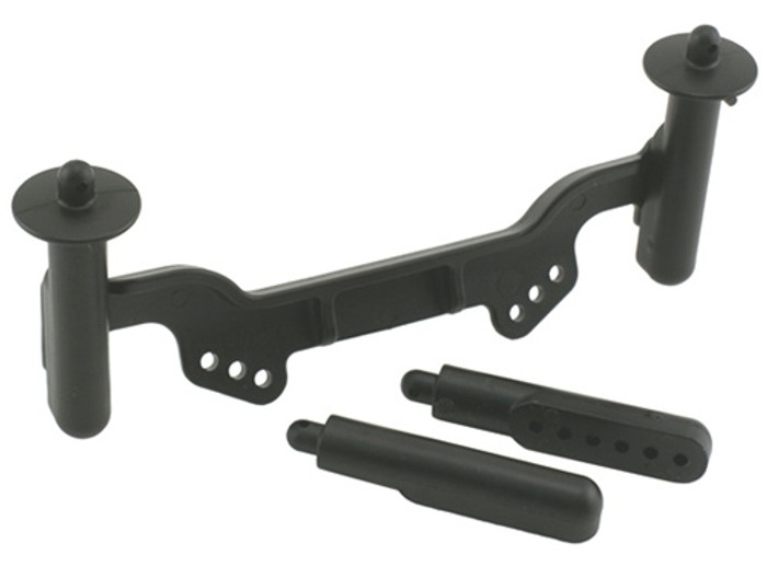 RPM Adjustable Front Body Mounts and Posts for Traxxas Slash 2WD/Rustler/Nitro Rustler, 81122