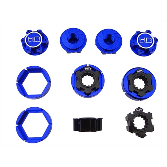 Hot Racing Aluminum 24mm Hex Hub Wheels Lock Set for Traxxas X-Maxx