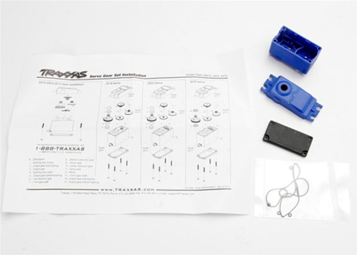 Traxxas Servo Case/Gaskets for 2056 and 2075 Servos, 2074