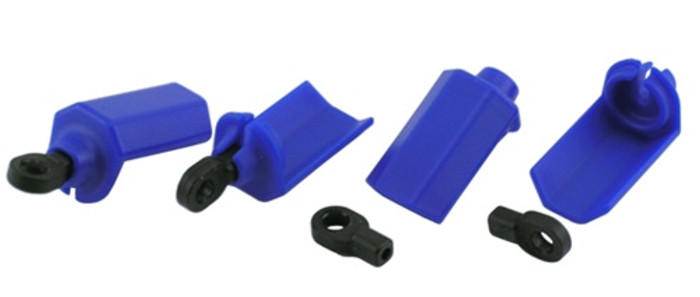 RPM Shock Shaft Guards for Traxxas 1/10 Vehicles - Blue, 80405
