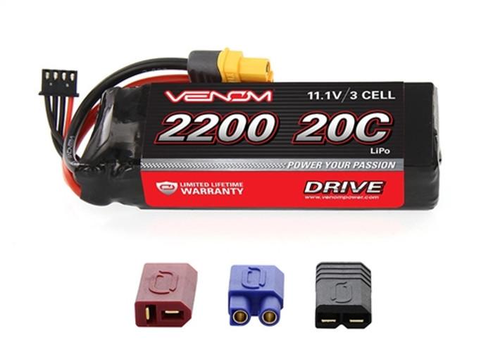 Venom 20C 2200mAh 11.1V 3-Cell LiPo Battery w/Uni Plug 2.0, 1577