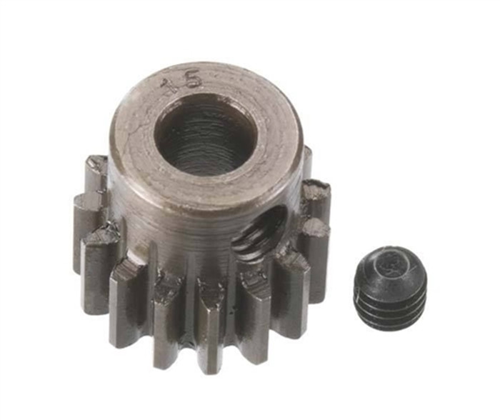Robinson Racing 15T Extra Hard 5mm Brushless Motor Pinion Gear, 8715