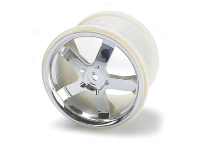 "Traxxas Wheels Hurricane 3.8"" Chrome (fits Revo/Maxx series), 5373"