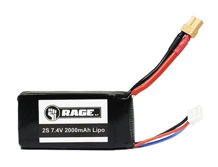 Rage Imager 390 Drone 7.4V 2000mAh Lipo Battery, 4212