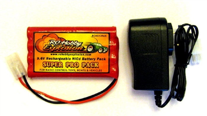 New Bright 9.6V Ni-Cd Battery Pack and Charger Substitution