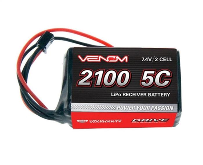 Venom 2100mAh 7.4V 2S LiPo RX Hump Pack, 15001
