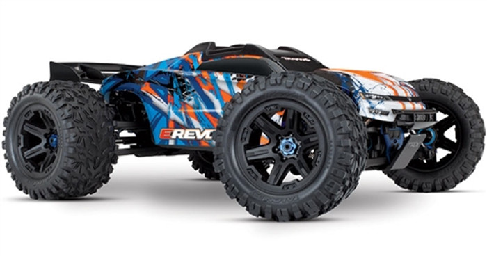 Traxxas E-Revo 2.0 Brushless Next Gen Monster Truck - Orange, 86086-4