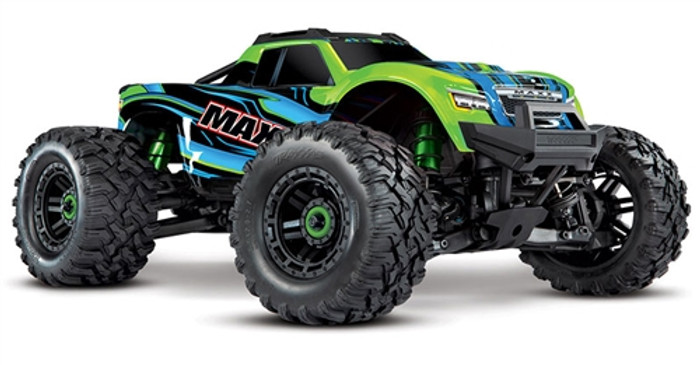 Traxxas Maxx 4S RTR 4x4 Monster Truck with TSM - Green, 89076-4