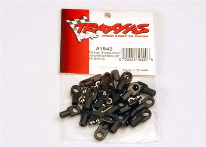 Traxxas Rod Ends Set (w/hollow balls & screws), 1942
