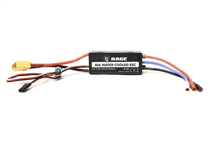 Rage Water-Cooled 40A Brushless ESC for the SuperCat 700BL, B1251