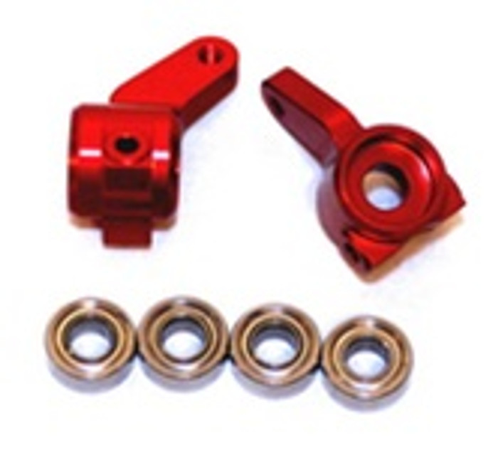 ST RACING CNC Machined Aluminum Oversized Front Knuckle (Red), 3636R
