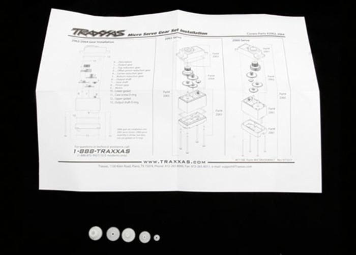 Traxxas Gear Set for 2065 waterproof sub-micro servo, 2064