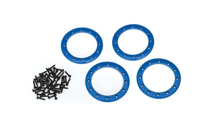 "Traxxas Blue Beadlock Rings 2.2"" for TRX-4, 8168X"