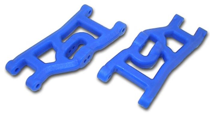 RPM Front A-Arms for Traxxas Nitro Rustler/Nitro Stampede/Nitro Sport/Bandit - Blue, 80495