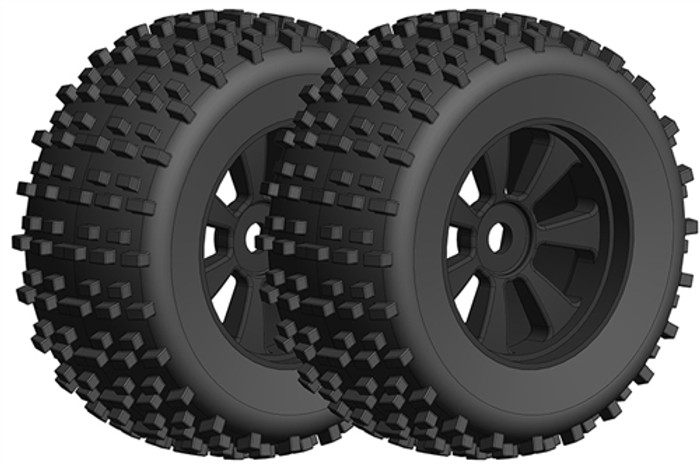 Team Corally Off-Road 1/8 Monster Truck Gripper Tires/Wheels - 1/8, C-00180-378