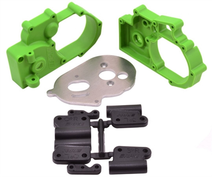 RPM Gearbox Housing and Rear Mounts for Traxxas Electric Slash/Stampede/Rustler/Bandit 2WD - Green, 73614