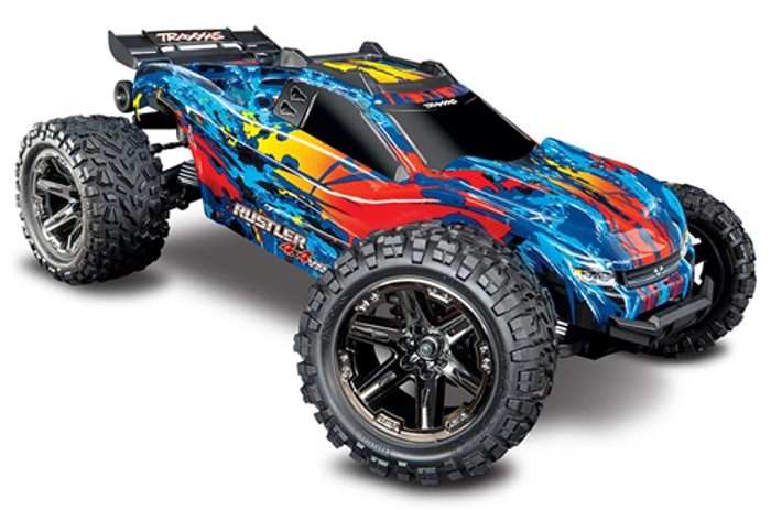 Traxxas Rustler 4X4 VXL Brushless Stadium Truck - RED, 67076-4
