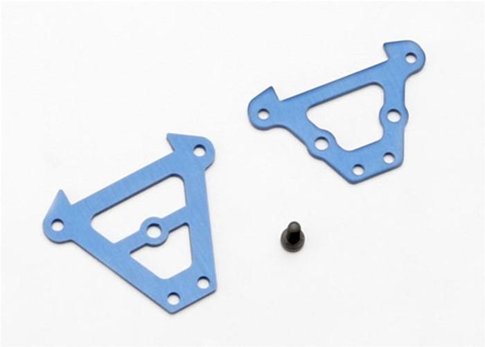 Traxxas Bulkhead Tie Bars (front & rear, blue-anodized aluminum), 7023