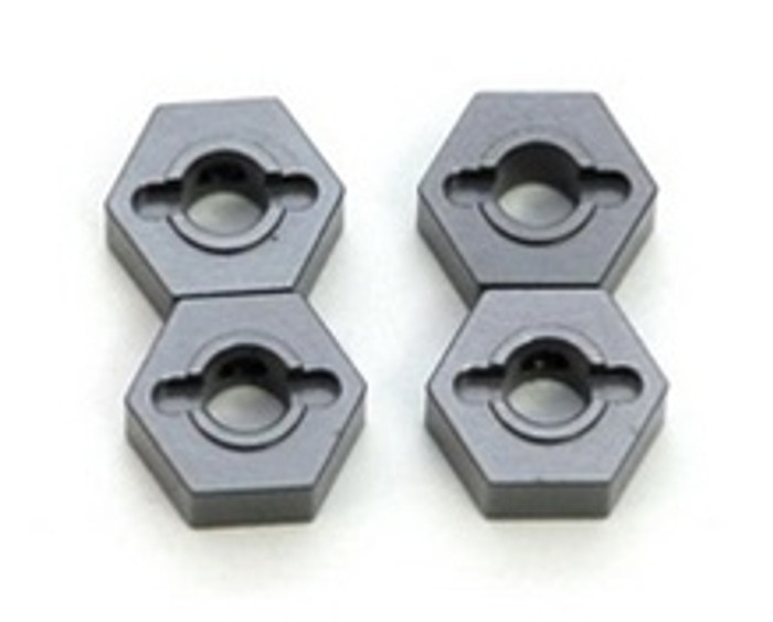 ST RACING CNC Machined Aluminum 12mm Hex Adapters Slash/Stampede 4x4 (Gun Metal), 1654GM