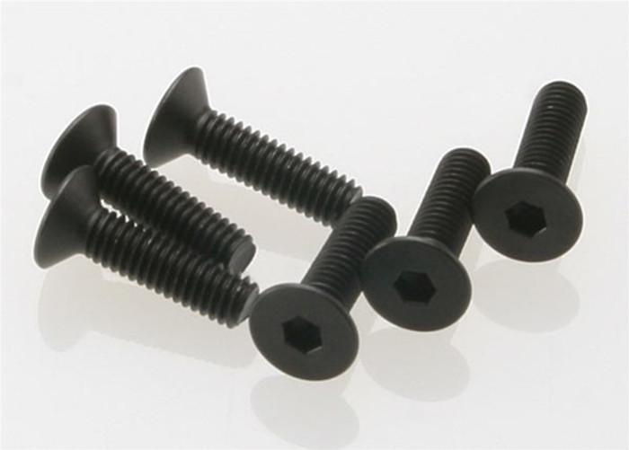 Traxxas 4x15mm Countersunk Machine Hex Screws, 2546