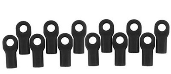RPM Short Rod Ends for Traxxas 1/10 Vehicles - Black, 80472
