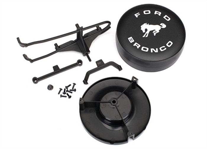 Traxxas Spare Tire Cover and Hardware for TRX-4 Ford Bronco, 8074