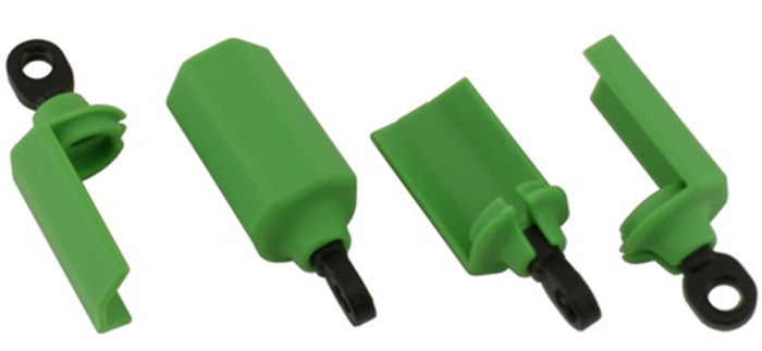 RPM Shock Shaft Guards for Traxxas 1/10 Vehicles - Green, 80404