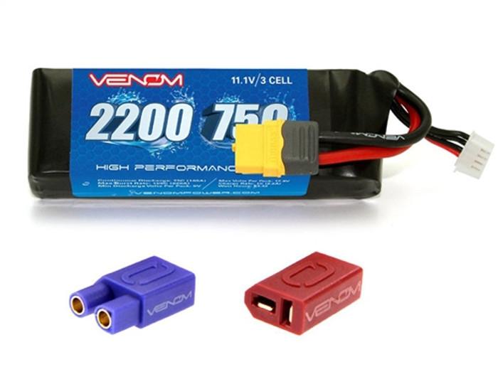 Venom 75C 2200mAh 11.1V LiPO Battery w/XT60 Plug, 45002
