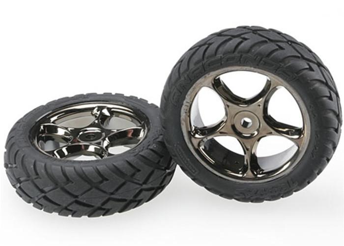"Traxxas Tracer 2.2"" Wheels & Anaconda Tires Bandit Front, 2479A"