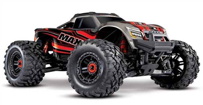 Traxxas Maxx 4S RTR 4x4 Monster Truck with TSM - Red, 89076-4