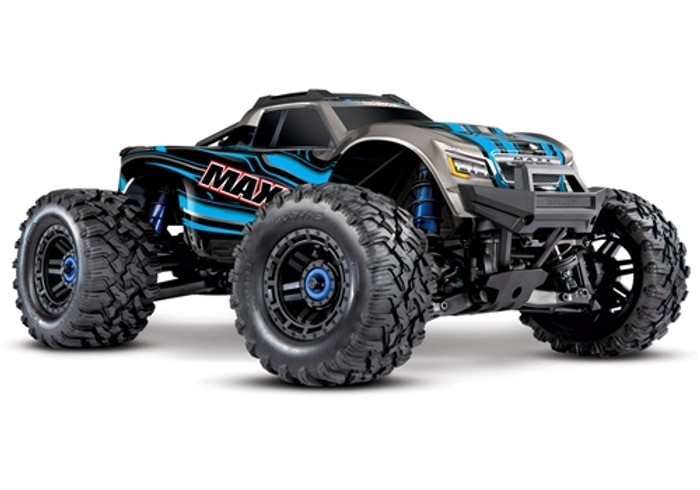 Traxxas Maxx 4S RTR 4x4 Monster Truck with TSM - Blue, 89076-4