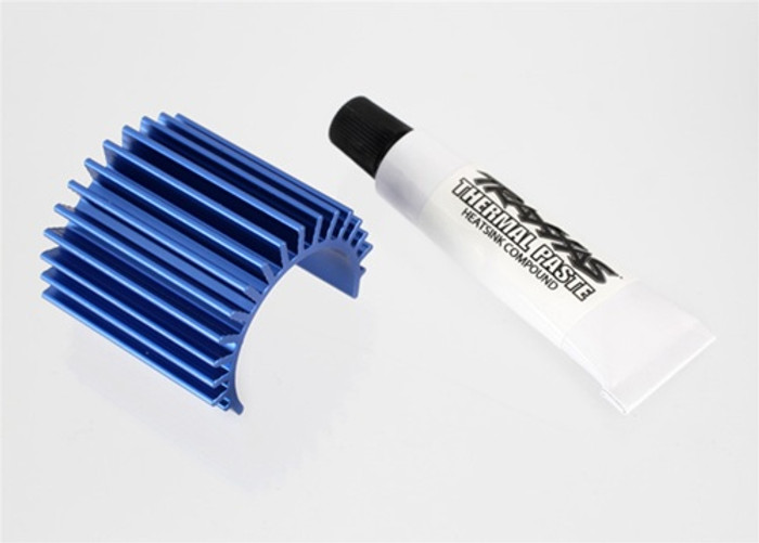 Traxxas Heat Sink Blue Anodized Aluminum for Velineon 380 Brushless Motor, 3374