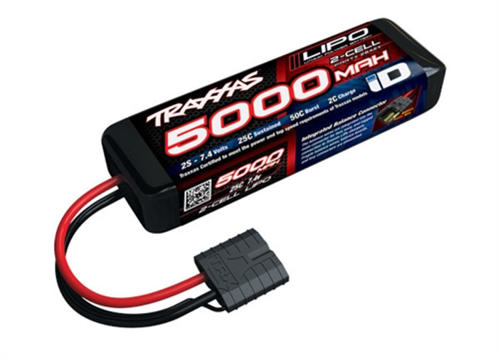 Traxxas 5000mAh 7.4V 25C Short LiPo Battery w/iD Connector, 2842X