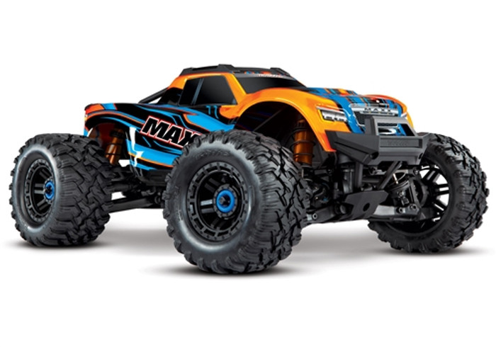 Traxxas Maxx 4S RTR 4x4 Monster Truck with TSM - Orange, 89076-4