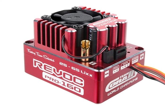Team Corally Revoc Pro 160A Racing Factory Red Edition 2-6S ESC, C-53004