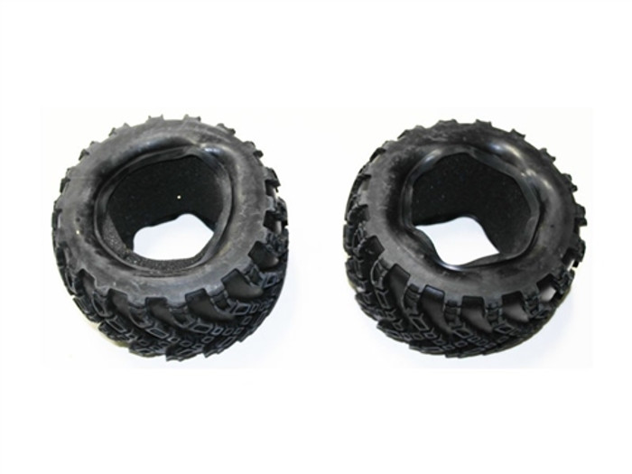 DHK Tires with Foam for Maximus and Zombie 1/8 Trucks (2pcs), 8384-004