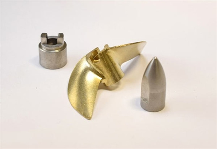 Hot Racing Brass Prop Set for Traxxas M41 and Spartan Boats