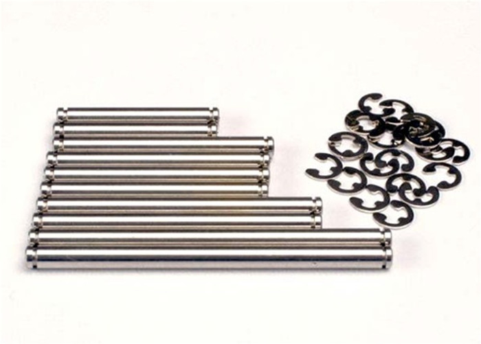 Traxxas Stainless Steel Suspension Pin Set (w/ E-clips), 2739