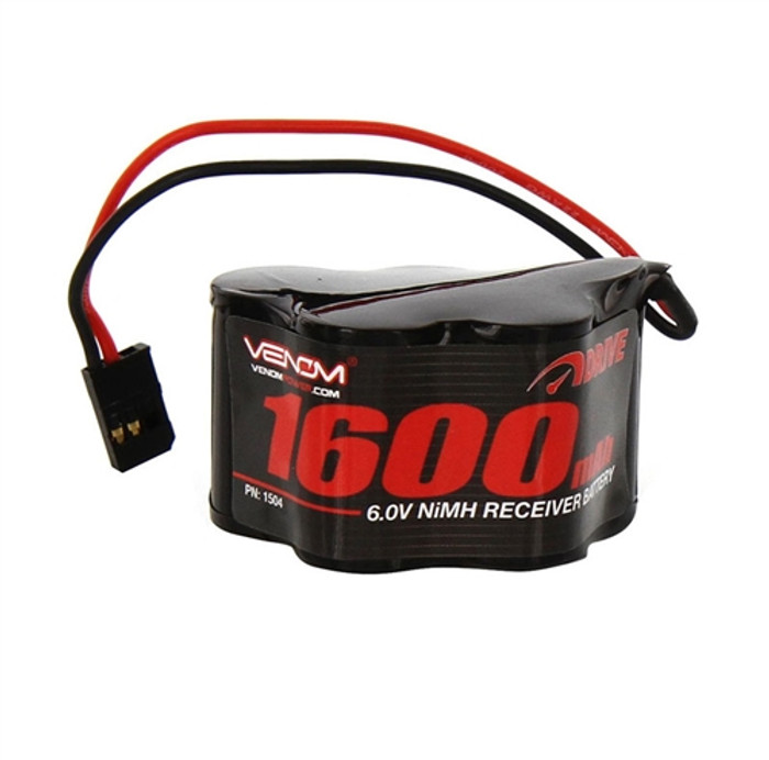 Venom 6V 1600mAh NiMh Hump Receiver Battery, 1504