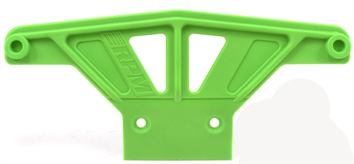 RPM Wide Front Bumper for Traxxas Rustler/Stampede/Bandit/Nitro Sport - Green, 81164
