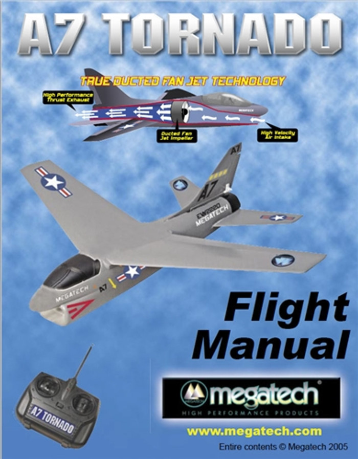 Megatech A7 Tornado Airplane User Manual Download